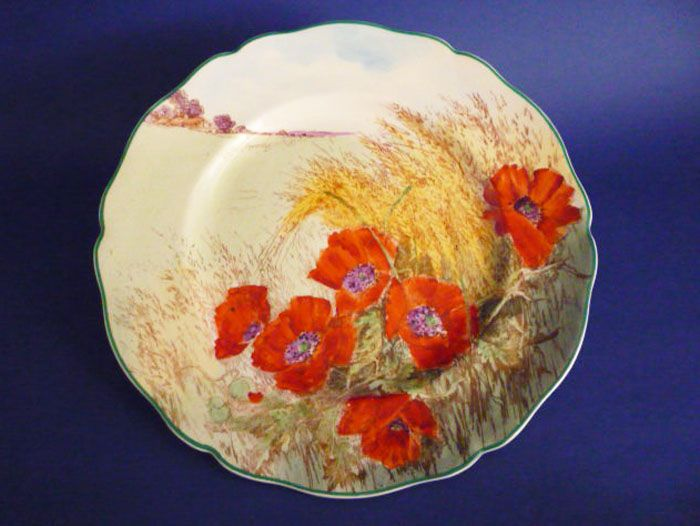 Royal Doulton 'Poppies in a Cornfield' Rack Plate D6312 c1949