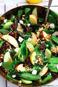 Apple Cranberry Walnut Salad | 18 Fall Salads You Need In Your Life Right Now