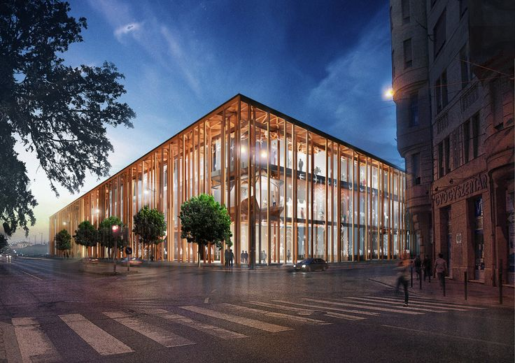 Marta Musiał on Behance Museum of Ethnography, OVO Grabczewscy, competition, render, visualisation, architecture, design, Hungary, Budapest, wooden, concrete