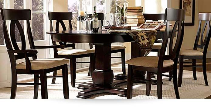 Transitional dining set, by Canadel  Choose your finish!