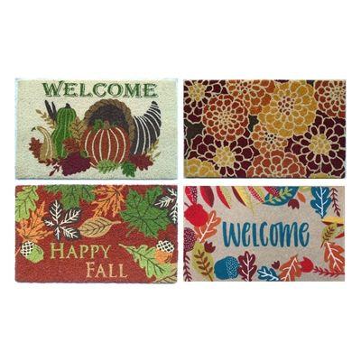 Assorted Fall Harvest Entryway Doormats