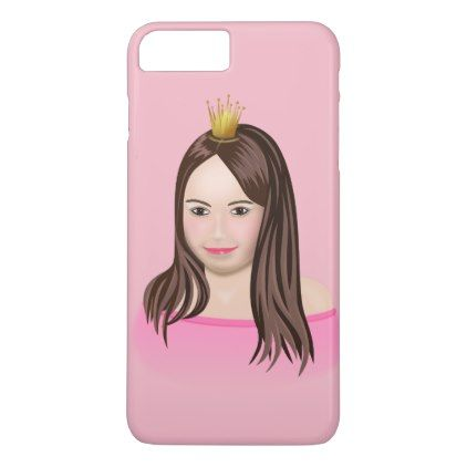 Young princess in pink dress iPhone 8 plus/7 plus case - valentines day gifts diy couples special day