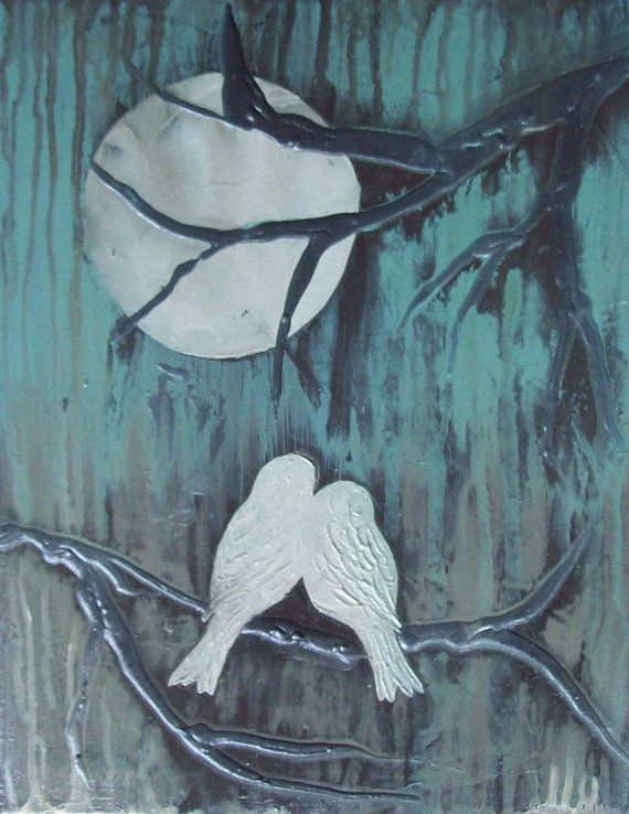 Love bird silhouette | Birds | Texture art projects ...