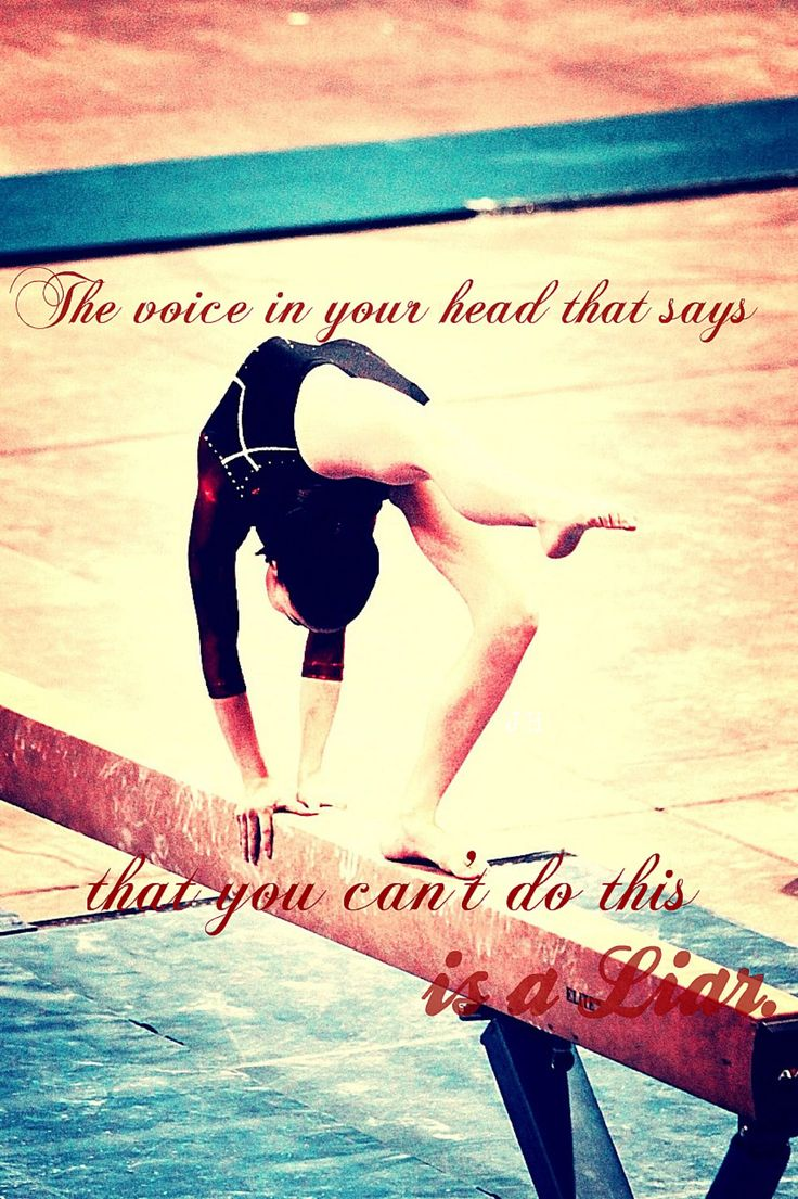 My daughter on beam in one of her Meet.  I added one of her favorites Gymnastics Quote..  MH
