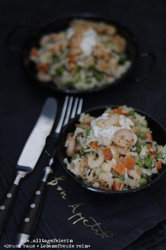 Kalifornische Küche Rezepte | Rezept Kalifornische Garnelen Reis Pfanne Thermomix Pinterest
