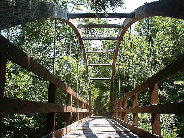 Walking Bridge at Swanson Park....Wichita, Kansas