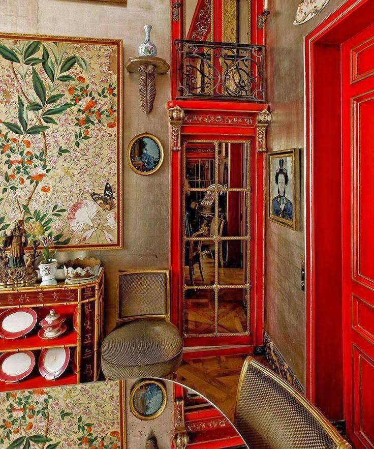 red lacquer décor chinois -- classic /  La Maison Boheme