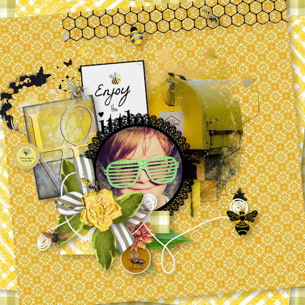 Save the honey bee by Perline Design Photo de Myriam Grandet  https://www.mymemories.com/store/designers/PerlineDesign