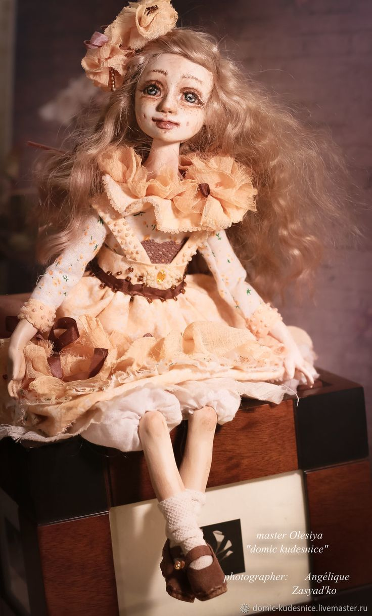 Купить Коллекционная будуарная кукла Нинель - бежевый, коллекционная кукла, интерьерная кукла, подарок женщине