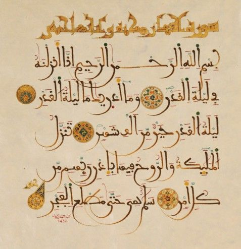 Sura Al-Qadr: This is a 'makki' surah with 5 ayaat. Imam Mohammad al-Baqir (a.s.) has said that whoever recites this surah with a loud voice, it is as if he has lifted his sword to fight in the way of Allah swt and whoever recites it slowly in his mind, it is as if he has been sacrificed in the way of Allah and has died a martyr.