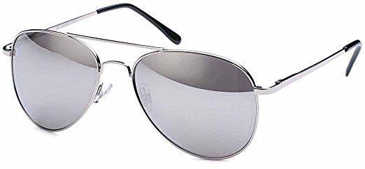 9,9€ Pilotenbrille Sonnenbrille 70er Jahre Herren & Damen Sunglasses Fliegerbrille verspiegelt (Black/Blue): Amazon.de: Bekleidung