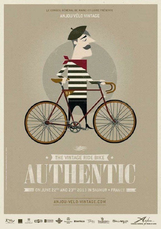 Previous pinner: We're so looking forward to the Anjou Vintage Velo extravaganza in June - already planning our outfits! Will Mr Songbird emulate this 'authentic' look...