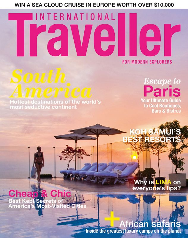 Issue 2 of International Traveller magazine, featuring the hottest destinations in South America.