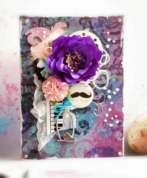Ribbon flower card/ lift.