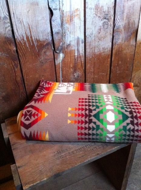 RESERVED Vintage PENDLETON Indian Blanket,Chief Joseph, Native American Design, 1920's
