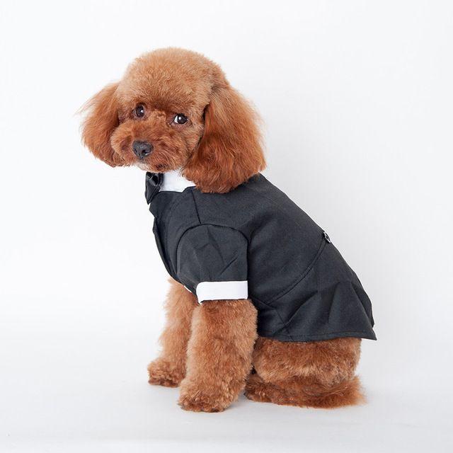 Большой симпатичные собаки кошка одежды принц свадебный костюм смокинг галстук-бабочку щенок 5 размеры