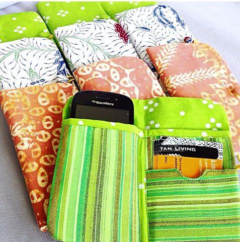 Iphone/Blackberry Batik Wallet.