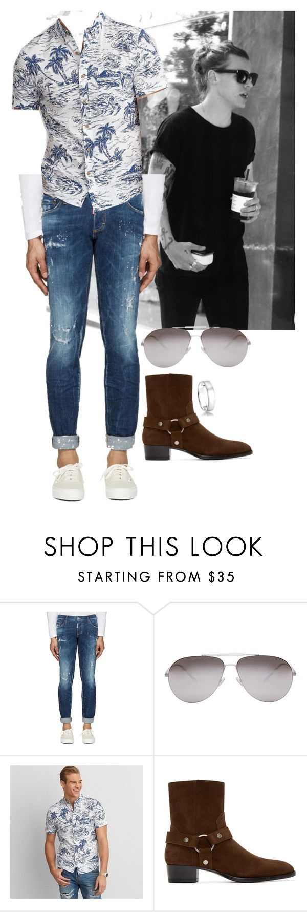 """Caedyn Caulton"" by ashleyr0sexo ❤ liked on Polyvore featuring Dsquared2, Dior Homme, American Eagle Outfitters, Yves Saint Laurent, Astley Clarke, men's fashion and menswear"