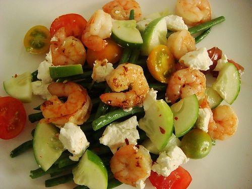 shrimp and goat cheese saladFood Turn, Feta Cheese, Seafood Recipe, Shrimp Salad, Fav Food, Healthy Shrimp, Goats Cheese Salad, Healthy Recipese Weights, Healthy Food