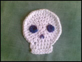Skully the Sulky Crocheted Coaster, this is a coaster but I am sure I could turn it into something else for my son.