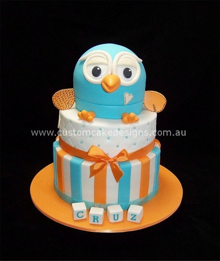 Giggle and Hoot Cake  Cake by customcakedesignsoz Pink Hoot Owl Cake Owl Cake — Children's Birthday Cakes party Girl Boys Kid Kids
