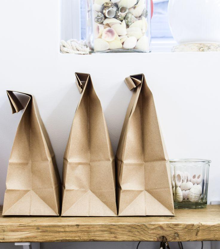 Packaging. Brown Lunch bags.