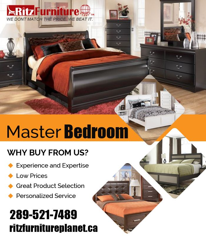 #MasterBedroomFurniture - #KingBedroomSets & #QueenBedroomSets  Complete your #bedroom with affordable and #stylishBedroomFurniture from Ritzfurnitureplanet has everything you need to complete your #masterbedroom. So do not think more and visit our store, located at: Store Address: 5200 Dixie Road, #Mississauga, ON L4W 1E8, #Canada   For more information just call us: 905-232-7489, 289-521-7489  Fax: 905-232-7489  Email: info@ritzfurnitureplanet.ca   Opening Hours:  Monday to Friday: 10:00…