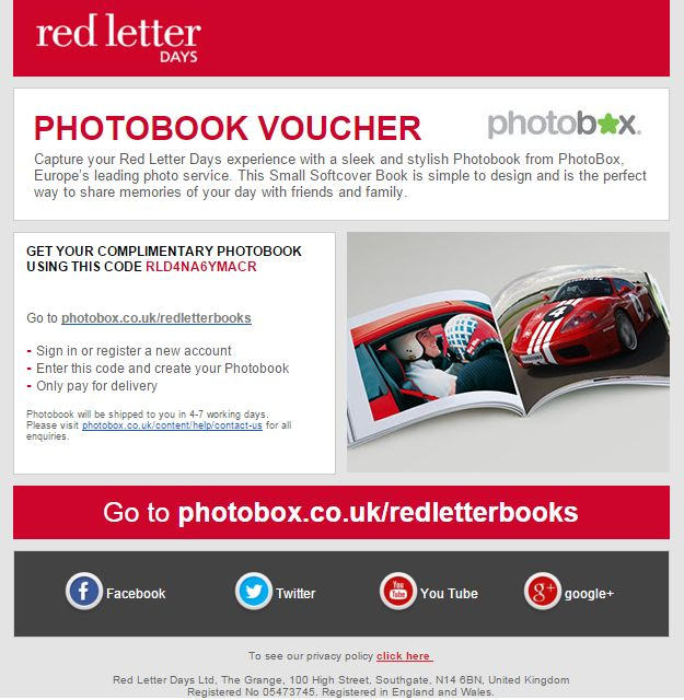 Save with these tested Red Letter Days Discount Codes valid for December Get the latest Red Letter Days Vouchers now - Live More, Spend Less™ Our experts test and verify all of the latest Red Letter Days deals and offers to save you time.