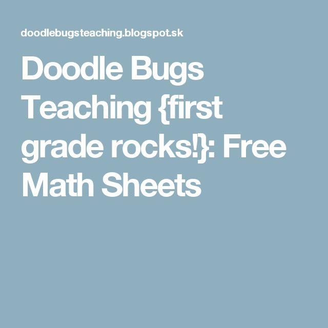 Doodle Bugs Teaching {first grade rocks!}: Free Math Sheets