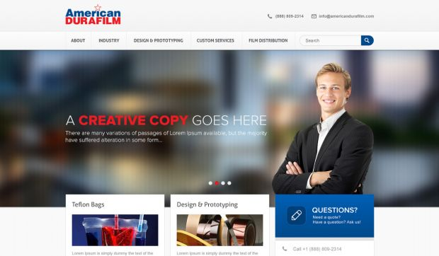 AmericanDURAFILM #Website #Design