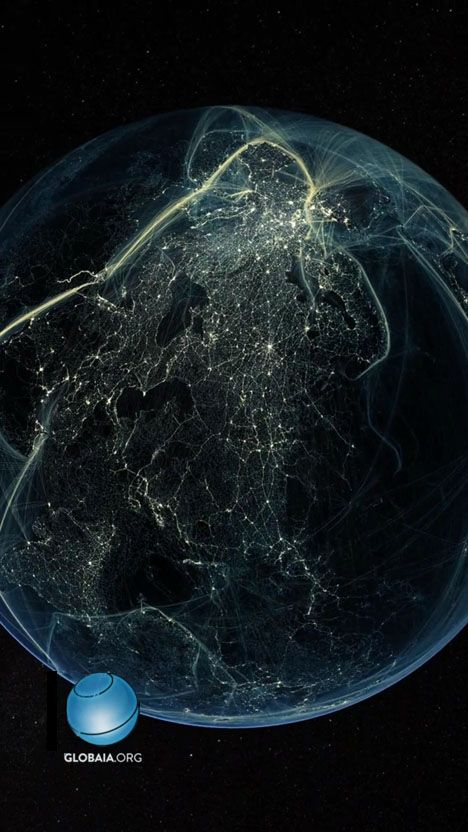 Amazing Visual Representation of Earth's Post-Industrial-Revolution Travel Routes