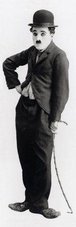 Affiches format porte 'Charlie Chaplin', Taille: 53 x 157 cm