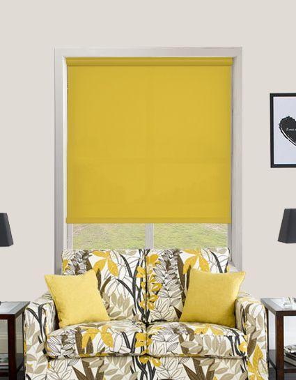 Bermuda Plain Cyber Yellow Roller Blinds