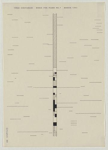 Experimental music notation resources - Toshi Ichiyanagi, including some written instructions for interpretation4