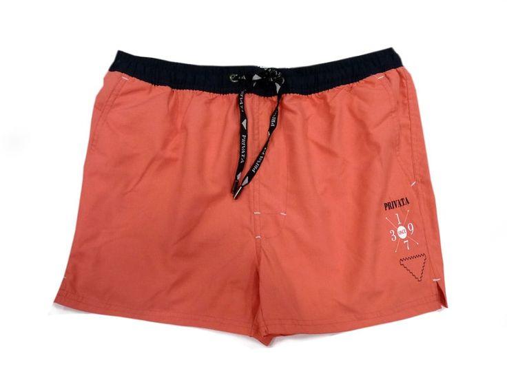 OFERTA bañador de PIERNA CORTA para hombre PRIVATA. Color Coral o Salmón. Tiene bolsillos laterales y secado rápido. + modelos en Varelaintimo.com