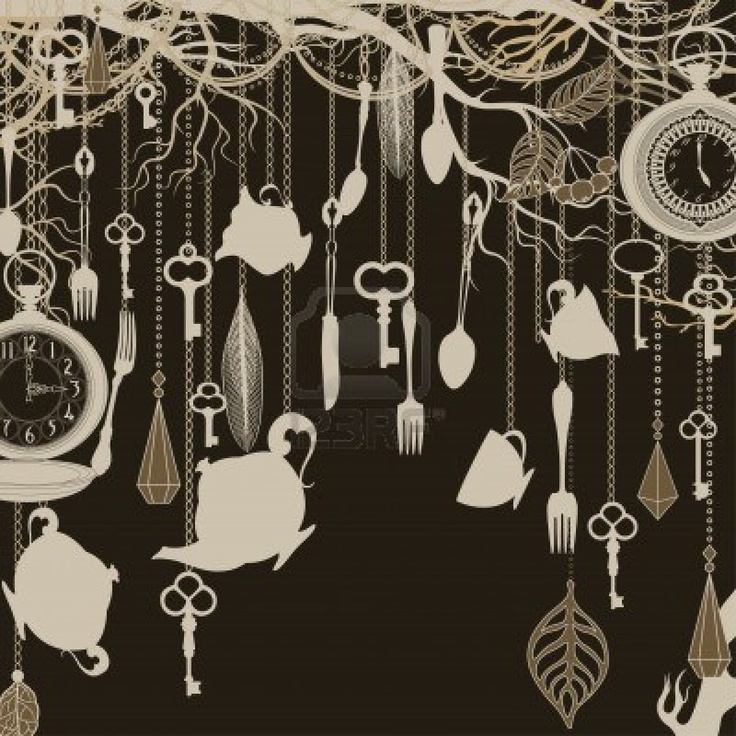 Antique Background With Tea Party Theme Stock Photo