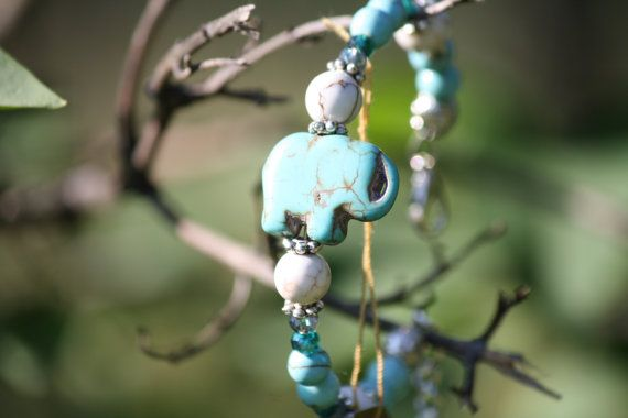 Hey, I found this really awesome Etsy listing at https://www.etsy.com/listing/195638805/howlite-turqoise-gemstone-elephant