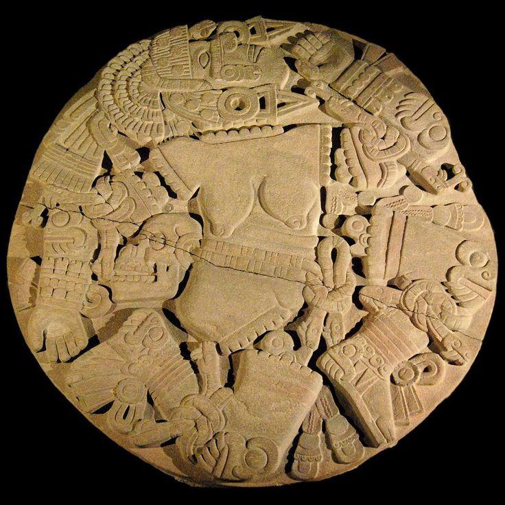 Tenochtitlan (modern Mexico City, Mexico). Mexica (Aztec). 1375–1520 C.E. Stone (temple); volcanic stone (The Coyolxauhqui Stone