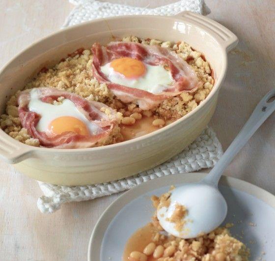 Englisches Frühstück mal anders – mit Thymian und Bröselkruste. Toll!