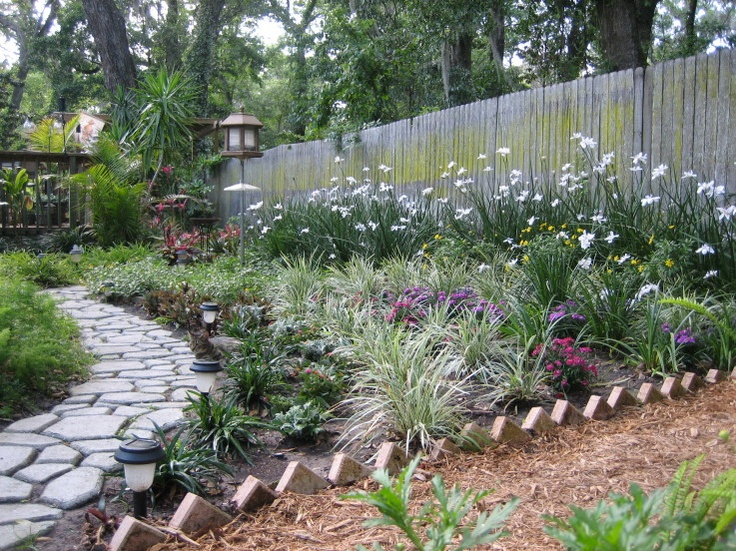 1000 images about walkway ideas in back yard on pinterest for Plants for walkway landscaping ideas