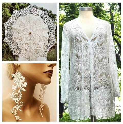 Wonderful white lace tunic at #NicciBoutiques #summer2014