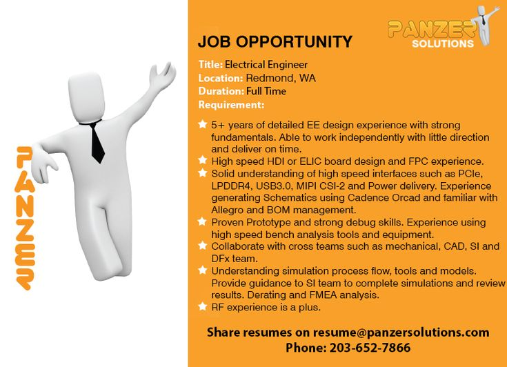Electrical engineer in 2020 job opportunities business