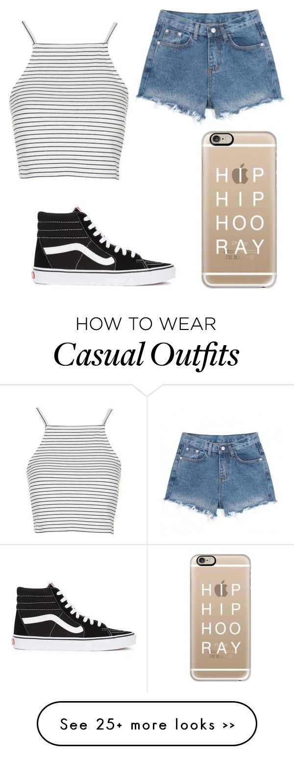 """Casual"" by outfitblogger on Polyvore featuring Casetify, Vans and Topshop"