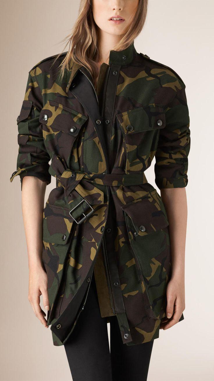 Veste utilitaire en coton à imprimé camouflage   Burberry