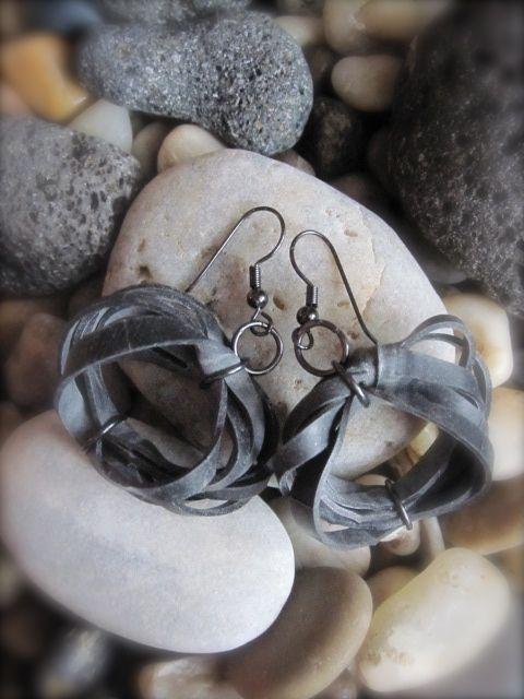 Innertube earrings #uniquedesignbymaria