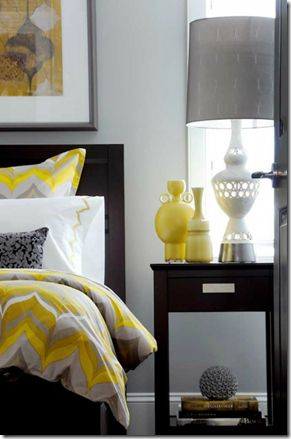 Remodelaholic | Free Yellow and Grey Printables thinking about doing grey and yellow for our bedroom