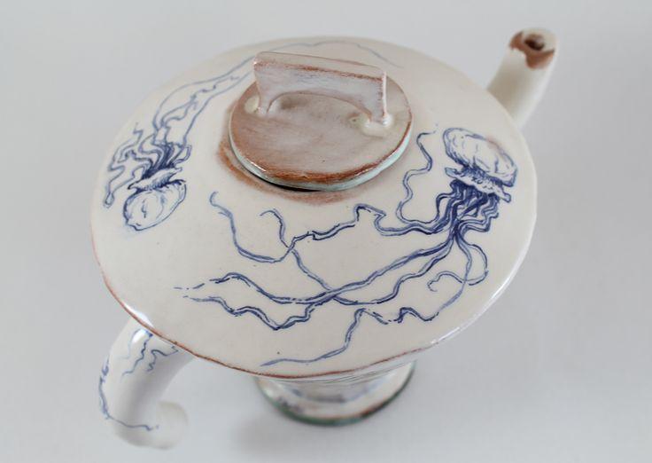 jellyfish I teapot by Giannis Agathos