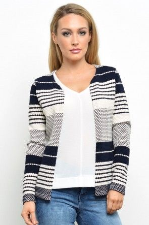 Pearl L/S Cardigan in Navy