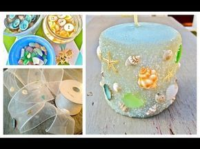 DIY tutorial: Decorate candles with paper napkins / Decorar velas con servilletas de papel - YouTube