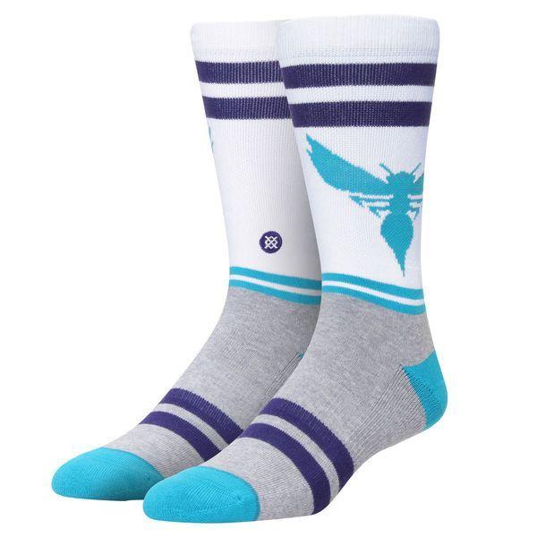 Charlotte Hornets Stance City Gym Crew Socks - White